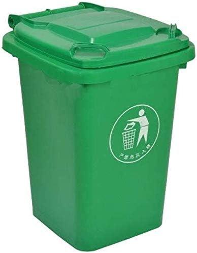 Cubos de basura GGJIN Verde Papelera, Basura de la Calle al Aire Libre de Basura Caja de Almacenamiento Espesar de plástico con Tapa de jardín Reciclaje de residuos Bin Colección Comer: Amazon.es: