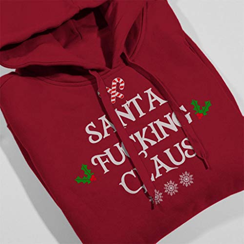 Hooded Women's Santa Cherry Claus Red Fucking Christmas Sweatshirt q4twId4
