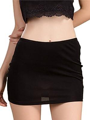 MisShow Women Underskirt Invisibly Comfortably Smooth Slip Short Panty Half Slip