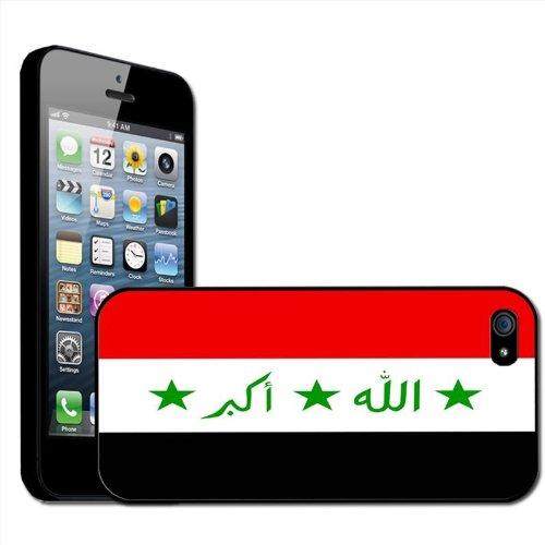 Drapeau Irak Coque arrière rigide détachable pour Apple iPhone modèles, plastique, iPhone 5/5s