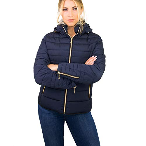 42 Taglie Giacca Impermeabile Ikonit Grigio Donna Ecopelliccia Slim 50 Giacchino Blu Beige Sportivo Fit Piumino OTdq7w