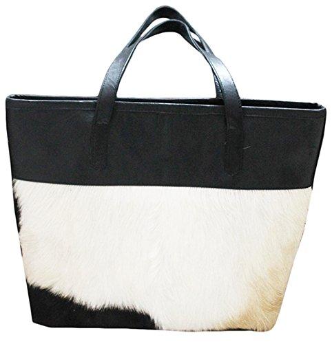 11sunshop BAG-OTTY - Bolso de asas para mujer Blanco blanco M