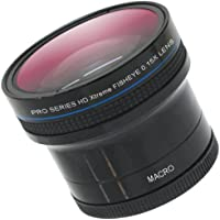 Zeikos ZE-1558F 52/58mm 0.15X high definition Super Fisheye lens with Macro attachment, includes lens pouch and cap covers (Life Time Warranty) Key Pieces Review Image