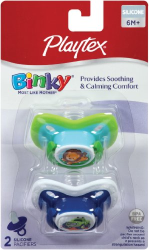 Playtex BinkySilicone Older Baby Pacifier, 2-Count