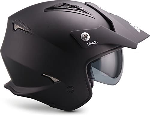 Soxon Sr 400 Mono Black Jet Helm Motorrad Helm Roller Helm Scooter Helm Moped Mofa Helm Chopper Retro Vespa Vintage Ece 22 05 Sonnenvisier Schnellverschluss Tasche Xs Xl 53 62cm Auto