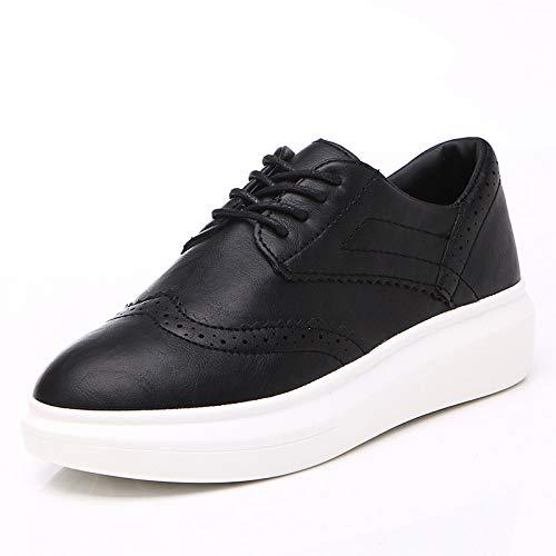 Hasag Calzado Deportivo New Classic Blanco y Negro Small White Shoes Zapatos de Mujer Estudiante black