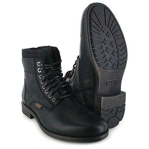 FB Fashion Boots Levi´s Footwear Emerson Collar Black/Herren Schnürstiefel Schwarz/Herrenstiefel mit Reißverschluss Black