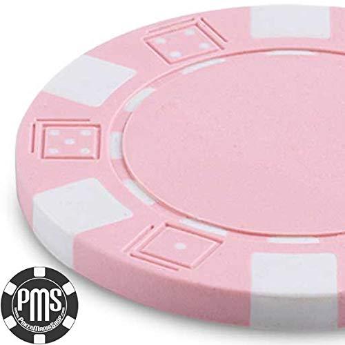 Confezione 100 Fiches 11,5 g DICE Colore Rosa PINK in Blister