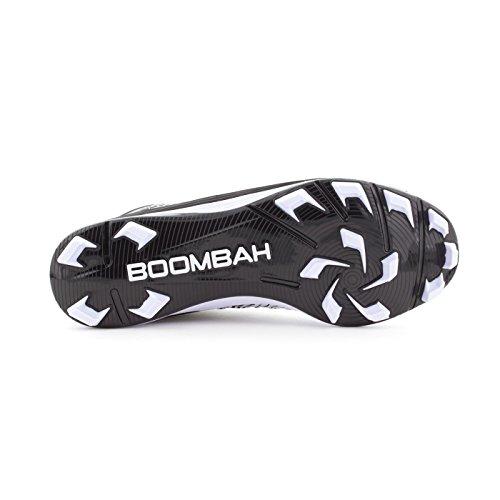 Boombah Mens Squadron Modellato Mid Tacchetti - 15 Opzioni Di Colore - Più Dimensioni Nero / Bianco