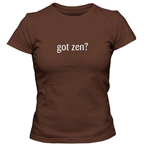 (shirtloco Women's Got Zen T-Shirt, Chocolate 2XL)