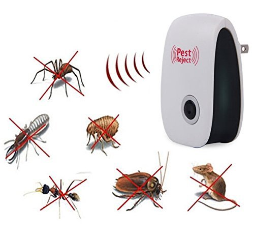 VKOPA Pest Repeller Ultrasonic - Professional Electronic Pest Repellent Control Repels Mice,Rats,Fly,Moths,Mosquito,Ants,Spiders,Bats,Rodents - Natural Insect Control Roaches Equipment for Indoor by VKOPA
