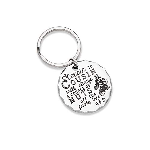 Christmas Gifts for Cousin Keychain Personalised Cousin Birthday Present Family Tree Stocking Stuffers Key Ring for Men Kids Teen Girls Boys BBF Brother Sister Cousin to Cousin Wedding Graduation  (Money Clip Keepsake)