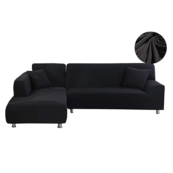 WOMACO - Fundas de sofá en forma de L para sofá de 2 piezas ...