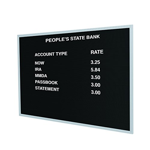 Open Face Letter Board - 24''H x 36''W by Ghent