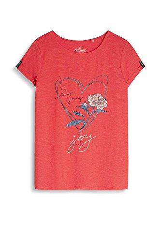 edc by Esprit 057cc1k045, Camiseta para Mujer Rojo (Orange Red)