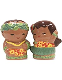 Get Ceramic Salt & Pepper Shaker Set Hula Keiki opportunity