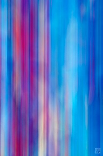 Contemporary Abstract Photography, Modern Wall Art, Colorful Home Decor, Flowing Pattern of Blue And Purple Lines, Vertical Fine Art Giclee Print by Jorjorian Studios