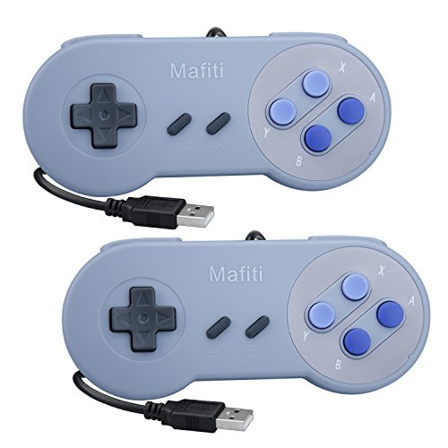 Cheap Mafiti GP100 2 Pack SNES Retro USB Super Controller, PC USB Controller Gamepads Gamestick Joysticks, Raspberry Pi Controller for Windows PC/MAC/Raspberry Pi (2 Pack)