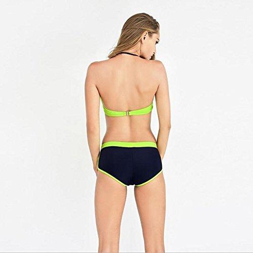 CZLL Placa de acero de Klein detrás de dos piezas traje de baño bikini era delgado delgado traje de baño