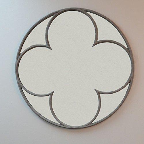 Hudson Round Quatrefoil Mirror