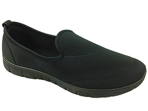 Walk Cherry Black Go 4 Flexi Sports Casual Plimsoll 8 Surf Trainer Ladies Holiday Size Comfort Pumps Shoes C4qxwXCTZ