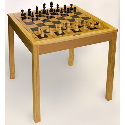 Sterling Wooden Chess Checkers and Backgammon Board Games, Natural