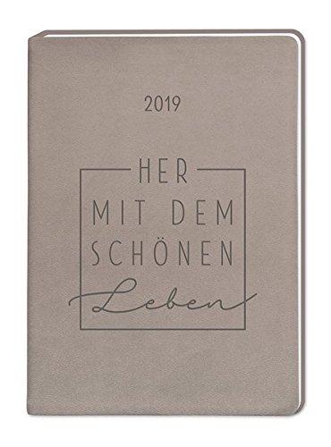Terminplaner Lederlook A6 Taupe (Schönes Leben) 2019