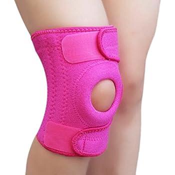 ab9d5e0836 BeeChamp Adjustable Neoprene Knee Support Kneecap Compression Sleeve Open  Patella Brace (Pink)