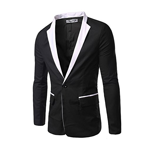 Cheap Cloud Style Men's One Button Groom Tuxedo Studio Casual Dress Jacket Coat Slim Fit for sale