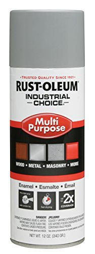 Rust-Oleum 214645 1600 ANSI 61 Light Gray System General Purpose Enamel Aerosol, 20 oz Container Size, Aerosol Can (Pack of 6)