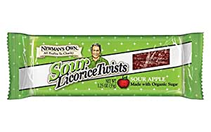 Newman's Own Licorice Twists, Sour Apple, 1.25 Ounce (Pack of 24)