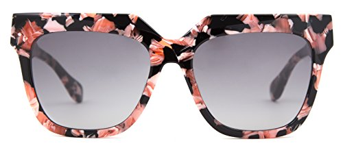 Sonix Women's Avalon Sunglasses, Rose Marble/Black Fade, One - Sunglasses Sonix