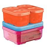 Rubbermaid LunchBlox Kid's Tall Lunch Box Kit, Pink/Orange