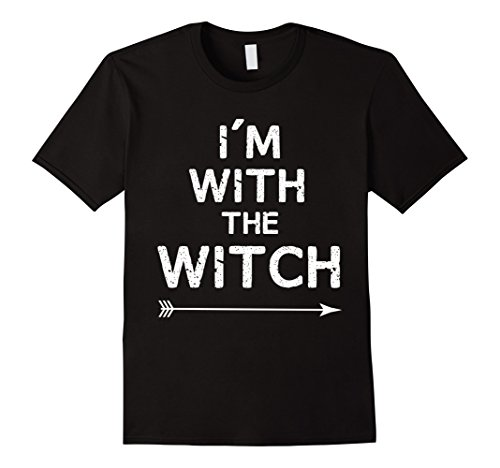 Witch Couple Costumes (Mens Halloween Couples Costume - I'm With The Witch Large Black)