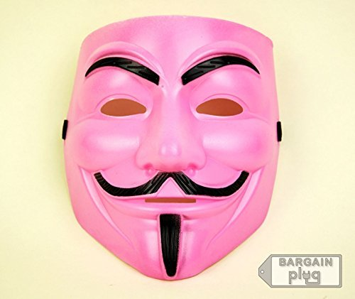 Mask Guy Fawkes Halloween Pink -