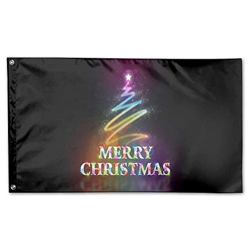 Colorful Star Merry Chrismas Home Garden Flags Polyester 3x5