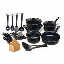 32-Piece Kitchen Cookware Knife Cutlery Flatware Set