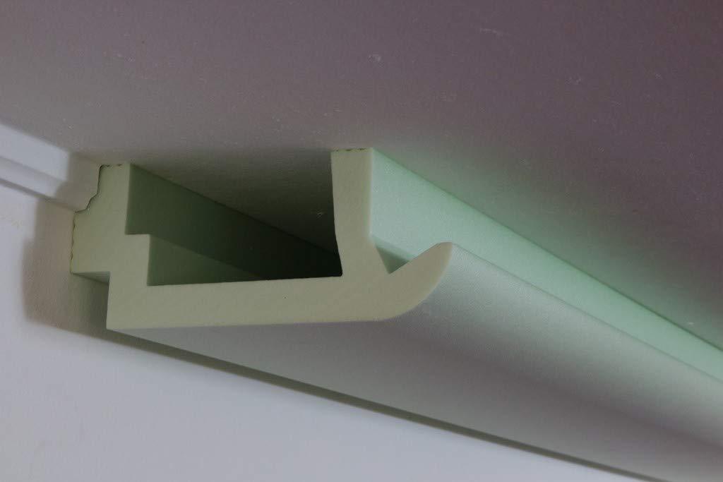 BENDU LED Stuckleisten – Lichtprofile aus Hartschaum Lichtvouten für indirekte Beleuchtung von Wand & Decke 200x82mm WDKL-200A-ST BENDU Fassaden- Stuck & Lichtprofile