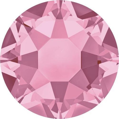 2000, 2038 & 2078 Swarovski Flatback Crystals Hotfix Light Rose | SS20 (4.7mm) - Pack of 100 | Small & Wholesale Packs