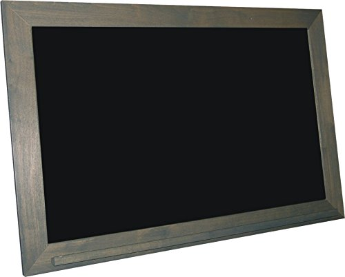 billyBoards 36X60 chalkboard. Grey barnwood frame finish. School style. With chalk tray. Black porcelain writing panel. 2.5'' wood frame. by billyBoards