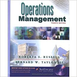 Operations management 4th edition collier and evans.