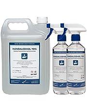 Hand alcoholspray 70% Gedenatureerd met IPA, MEK en Bitrex - 5 liter + 2x 500 ml met spraykop
