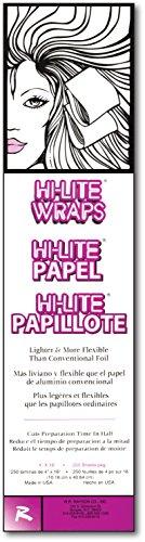 (Hi-Lite Wraps 4 x 16, 250 Sheets Per Box, case of 6)
