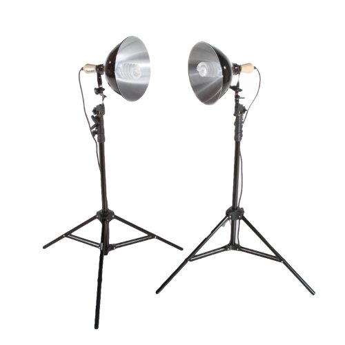 Fovitec StudioPRO 450 Watt 2 Photography Photo Video Studio Continuous 5500K Lighting Kit – Includes Lightstands & Reflectors