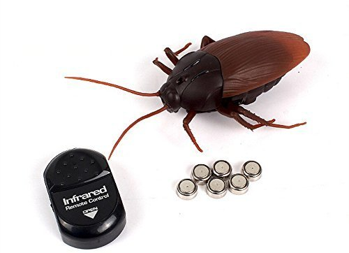Bhbuy Remote Control Realistic Fake Cockroach RC Prank Toys Insects Joke Scary Trick