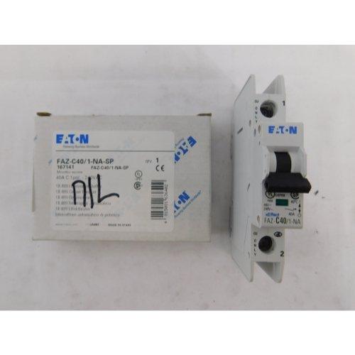 Eaton FAZ-C40/1-NA-DC-SP 40A, 1P, 125V DC, 10 kAIC, C-Curve, UL 489 CB