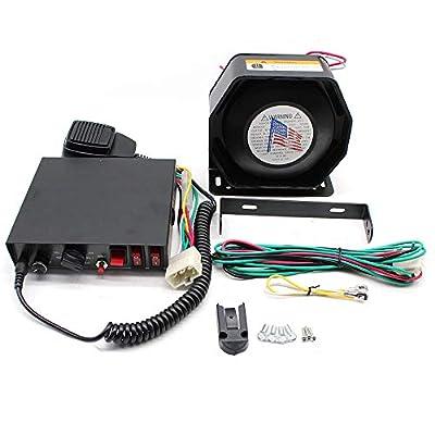 200W 12V 8 Sound Loud Speaker PA Horn Siren System Mic Kit Police Car Fire Truck