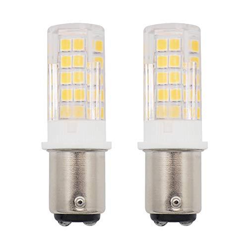 GRV BA15D 1142 1076 64-2835 SMD LED Lights Bulbs 4W AC/DC 12-14V High Bright Bulbs Car RV Truck Tail Lights Warm White Pack of 2 ()