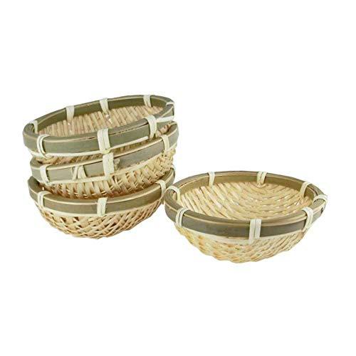 (Japanese Bamboo Basket Small Size, 4pcs set (Japan Import))