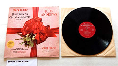 Julie Andrews Firestone Presents Your Favorite Christmas Carols Volume 5 - c3333cc - Forrell And Thomas1966 - A Used Vinyl LP Record - 1966 Mono Version Pressing MLP 7012 Custom Collectors Recording (Christmas Mlp Album)
